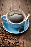 Coffee Cup Beans Royalty Free Stock Photos