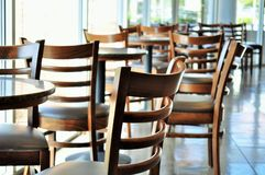 Coffee shop chairs Stock Photos