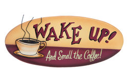 Coffee Sign Stock Photography
