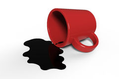 Coffee spilling Royalty Free Stock Image