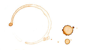 Coffee stain Stock Photography