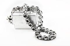 A colar chain maciça dos homens Fotos de Stock Royalty Free