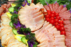 Cold meat platter Royalty Free Stock Images