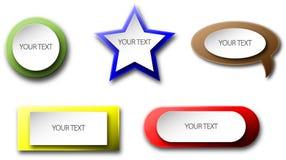 Coleção dos botões Imagem de Stock