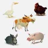 Colección de los animales del campo Imagenes de archivo
