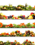 A collage of fresh and tasty fruits and vegetables Royalty Free Stock Images