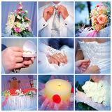 Collage from wedding photos. Nine in one Royalty Free Stock Images