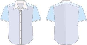 Collar Dress Shirt In Blue Royalty Free Stock Image