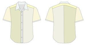 Collar Dress Shirt In Yellow Green Color Tones Stock Photos