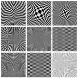Collection of backgrounds optical illusions Stock Photography