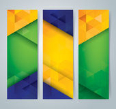 Collection banner design, Brazil flag color background. Stock Photo