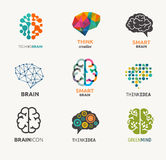Collection of brain, creation, idea icons and Royalty Free Stock Photo