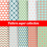 Collection of Chic Vector Seamless patterns Stock Photography