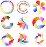 Collection of colorful logos Royalty Free Stock Image