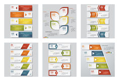 Collection of 6 design template/graphic or website layout. Vector Background. Stock Photography