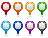 GPS and Navigation Blank Icons Stock Images
