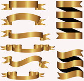 Collection of gold metal banner Stock Image