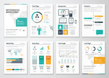 Collection of infographic brochure vector elements for business Stock Photo