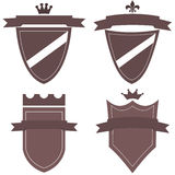 Collection of logos with medieval banners Royalty Free Stock Image