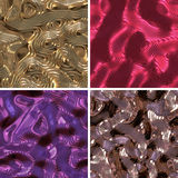 Collection of Metallic Backgrounds Stock Photos