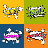 Collection multicolored comic sound Effects Royalty Free Stock Photo