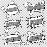 Collection multicolored comic sound Effects Royalty Free Stock Photos
