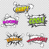 Collection multicolored comic sound Effects Royalty Free Stock Photography