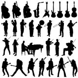 Collection of musician and music object vector Royalty Free Stock Image