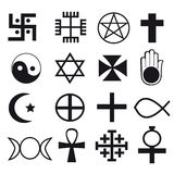 The collection text of religious symbols Royalty Free Stock Image