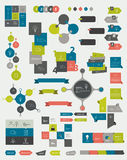 Collections of info graphics. Stock Image
