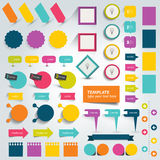 Collections of info graphics flat design elements. Stock Images