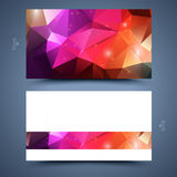 Color business card template. Abstract  background Stock Photo