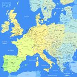 Color Europe map Stock Photography
