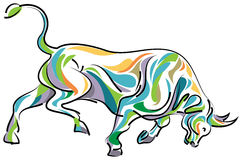 Color full bull Royalty Free Stock Photography