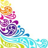Color splash waves abstract background Royalty Free Stock Images