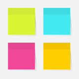 Color sticky notes Stock Photography