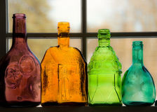 Colored Bottles Royalty Free Stock Photo