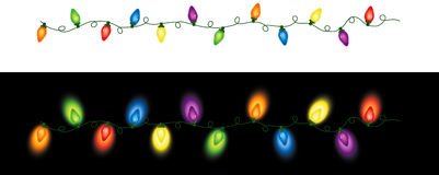 Colored Christmas Lights Repeating Stock Photos