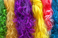 Colored hair Stock Images