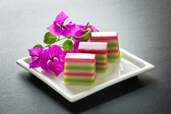 Colored layer cakes, Malaysia Royalty Free Stock Photography