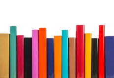 Colorful books in a row Royalty Free Stock Image