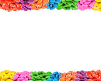 Colorful candy frame Stock Photo