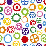 Colorful Cog Background Stock Images