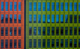 Colorful commercial buildings Royalty Free Stock Photo