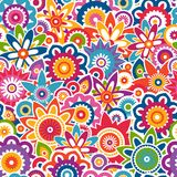 Colorful floral pattern. Seamless background. Stock Photography