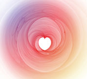 Colorful heart fractal Background Royalty Free Stock Photo