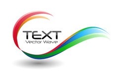 Colorful Logo Swirl Wave Royalty Free Stock Photos