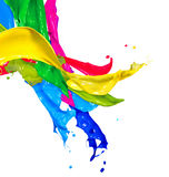 Colorful Paint Splashes Stock Images