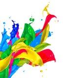 Colorful Paint Splashes Royalty Free Stock Photo