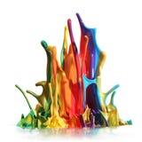 Colorful paint splashing Royalty Free Stock Image